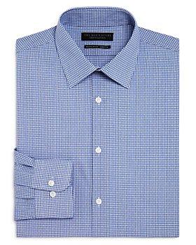 The Men's Store at Bloomingdale's - Mini Check Regular Fit Dress Shirt - 100% Exclusive