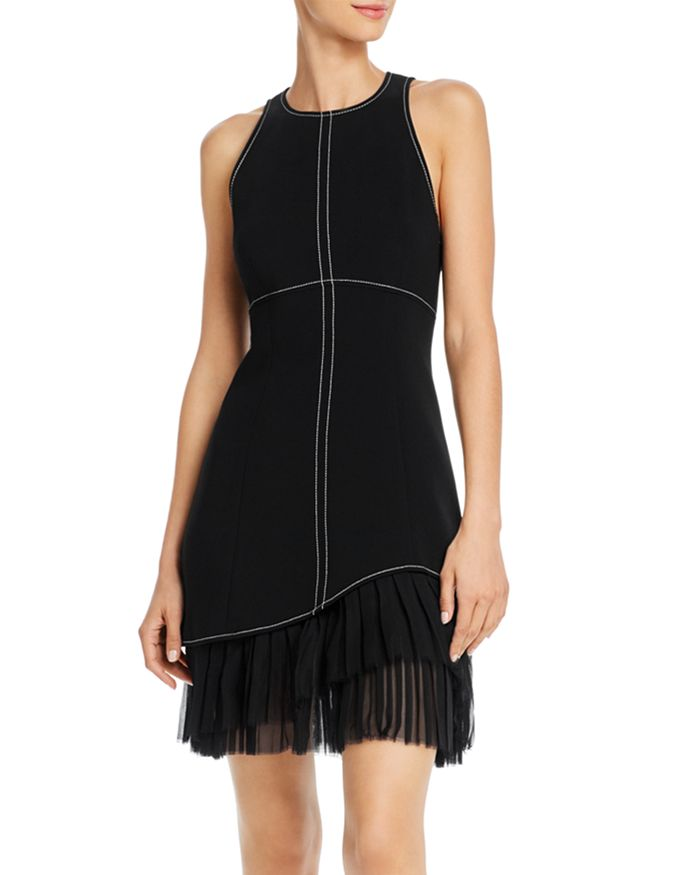 Cinq à Sept - Cathy Pleated-Hem Mini Dress