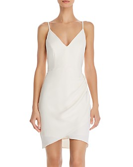 Amanda Uprichard - Giovanni V-Neck Draped Mini Dress