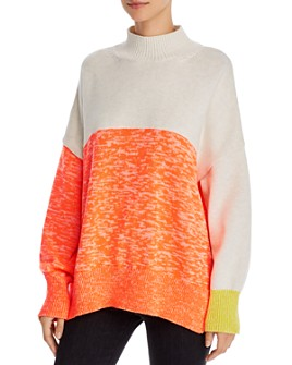 FRENCH CONNECTION - Joelle Oversized Color-Blocked Sweater