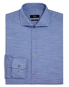 BOSS - Mark Houndstooth Regular Fit Dress Shirt