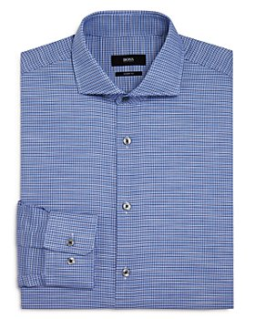 BOSS - Mark Houndstooth Regular Fit Dress Shirt