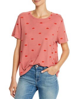 Splendid - For The Love of Embroidered Lips Top