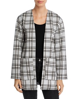 Bagatelle - Plaid Open-Front Cardigan Jacket