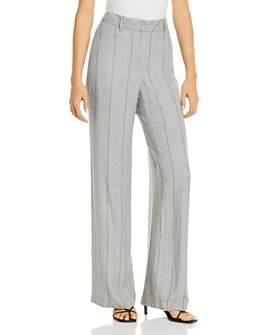 b new york - Striped Wide-Leg Pants