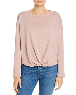 b new york - Knit Crossover-Front Top
