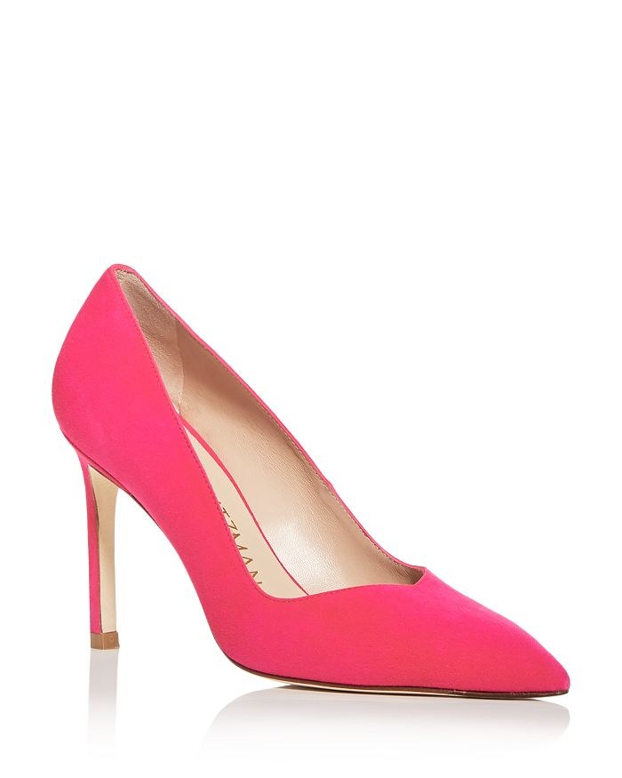 Stuart Weitzman - Women's Anny Pointed-Toe Curved Pumps
