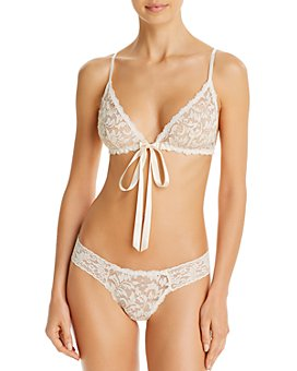 Hanky Panky - Gold Lure Front-Tie Bralette & Low-Rise Diamond Thong