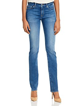 7 For All Mankind - Kimmie Straight-Leg Jeans in Slim Illusion Luxe Love Story