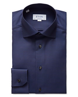 Eton - Tonal Houndstooth Regular Fit Dress Shirt