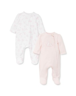 Little Me - Girls' Bunny Footie, 2 Pack - Baby