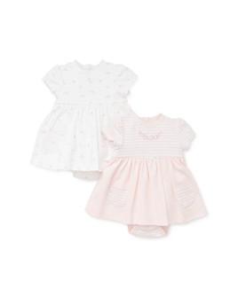 Little Me - Girls' Floral Bodysuit Dress, 2 Pack - Baby