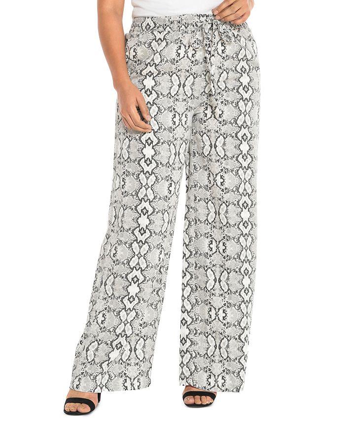 SLINK Jeans Plus - Wide-Leg Drawstring Pants