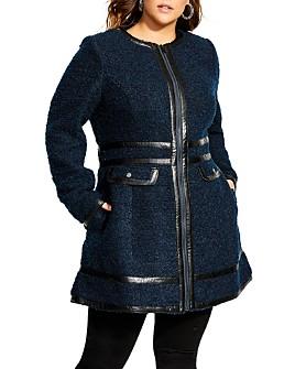 City Chic Plus - Bouclé Coat