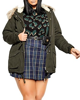 City Chic Plus - Hooded Parka
