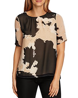 VINCE CAMUTO - Abstract Cow-Print Top