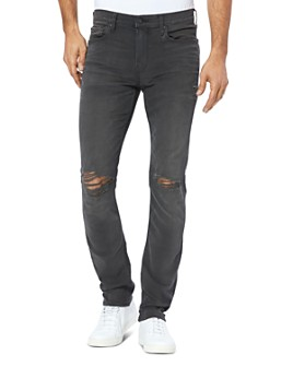 PAIGE - Lennox Slim Fit Jeans in Payne Destructed