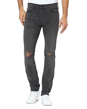 Paige Lennox Slim Fit Jeans in Payne Destructed-Men