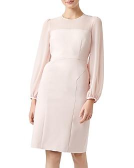 HOBBS LONDON - Mila Blouson-Sleeve Sheath Dress