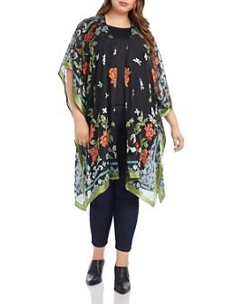 Karen Kane Plus - Floral-Burnout Kimono