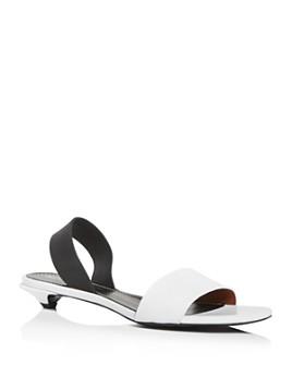 Proenza Schouler - Women's Slingback Low Kitten-Heel Sandals