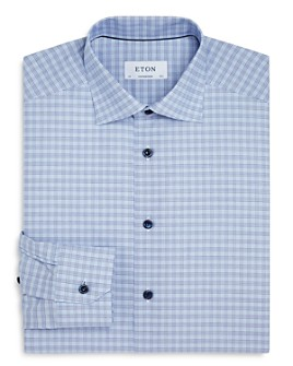 Eton - Cotton Plaid Regular-Fit Dress Shirt