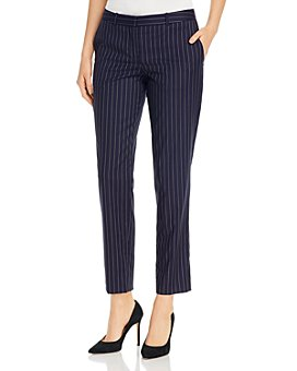 BOSS - Tiluna Striped Wool-Blend Slim Pants