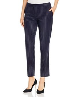 BOSS - Tiluna Striped Wool-Blend Slim Pants