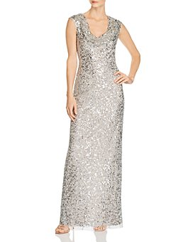 Adrianna Papell - Beaded Column Gown