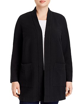 Eileen Fisher Plus - Textured Notch-Collar Open-Front Jacket - 100% Exclusive
