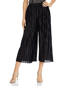 AQUA - Cropped Pleated Pants - 100% Exclusive