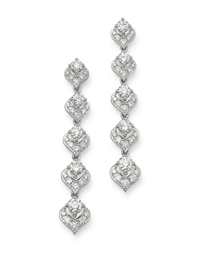 Bloomingdale's - Diamond Drop Earrings in 14K White Gold, 1.7 ct. t.w. - 100% Exclusive