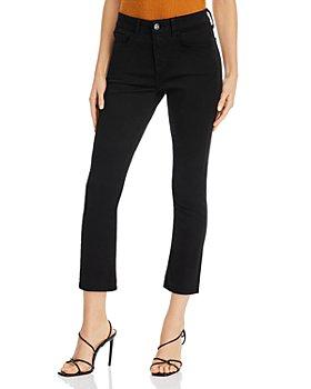Jen 7 - Straight-Leg Ankle Jeans in Black