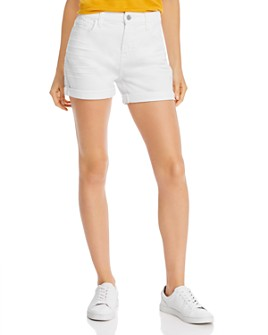 7 For All Mankind - Roll-Hem Shorts in White