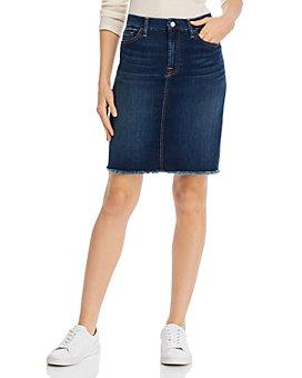 7 For All Mankind - Frayed-Hem Pencil Skirt
