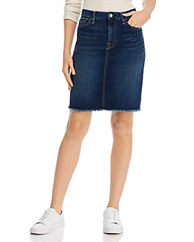 Jen 7 - Frayed-Hem Pencil Skirt