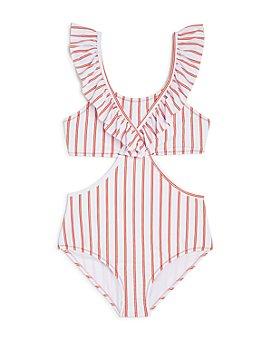 Habitual Kids - Girls' Striped One-Piece Bathing Suit - Big Kid