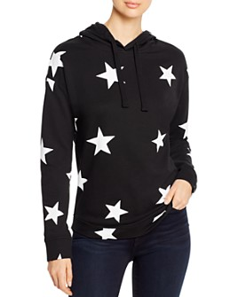 Marc New York - Cotton Star-Print Hoodie