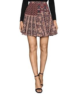 REISS - A-Line Patchwork Mini Skirt