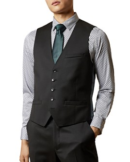 Ted Baker - Franc Printed-Back Suit Waistcoat