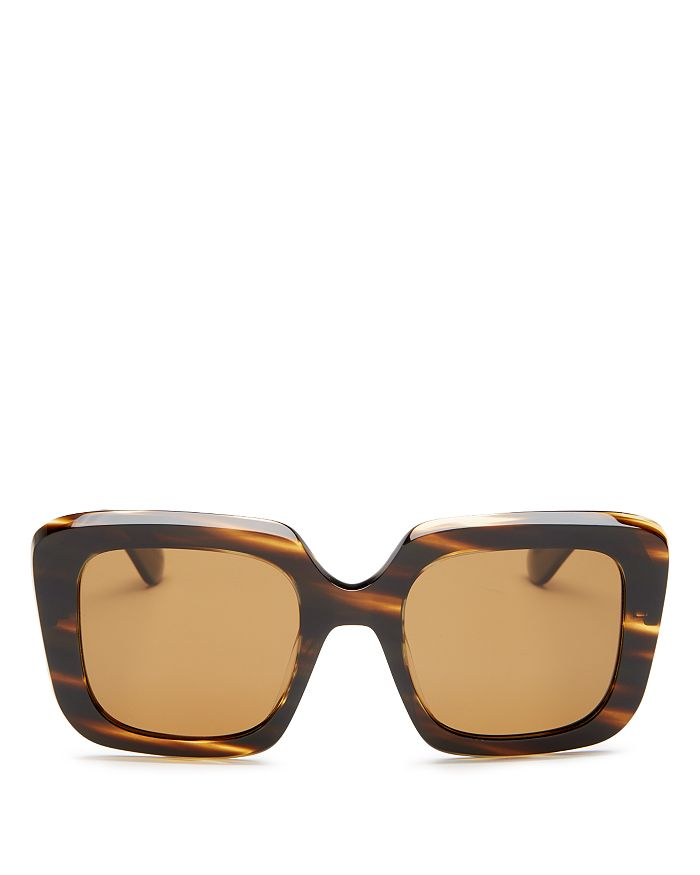 Oliver Peoples - Women's Franca Polarized Square Sunglasses, 52mm