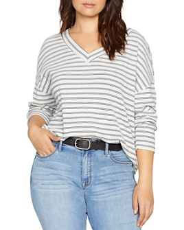 Sanctuary Curve - Eryka Striped V-Neck Top