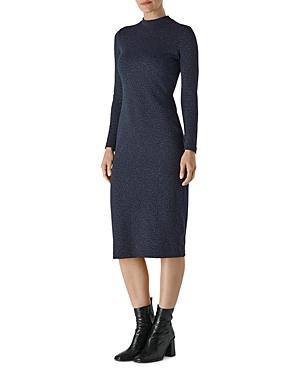 Whistles Animal Print Midi Dress-Women