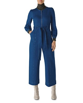 Whistles - Zip-Up Denim Jumpsuit