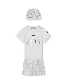 Moncler - Boys' Bonnet, T-Shirt & Shorts Box Set - Baby, Little Kid