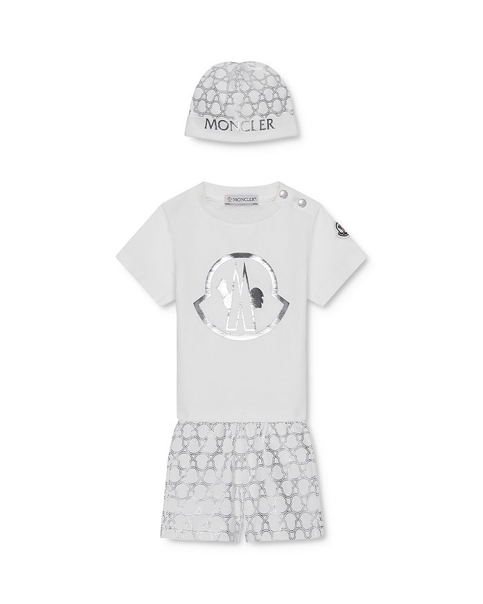 Moncler - Boys' Bonnet, T-Shirt & Shorts Box Set - Baby, Little Kid