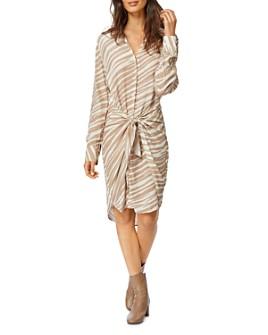 Habitual - Talia Tie-Front Shirt Dress