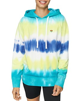 Spiritual Gangster - Happiness Tie-Dye Hooded Sweatshirt