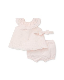 Little Me - Girls' Eyelet Cotton Sunsuit & Headband Set - Baby