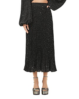 AFRM - Polka Dot Pleated Maxi Skirt